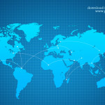 Vector World Map Background PSD
