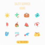 12 Free Summer Vacation Icons