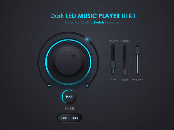 Free Music Player UI Kit
