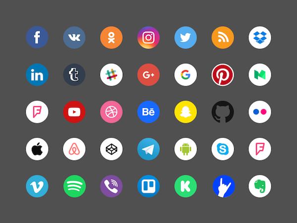 35 Free Social Icons