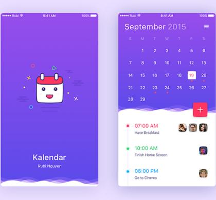 Kalendar App UI Template
